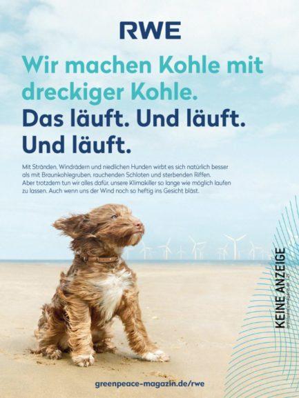RWE Werbung Greenpeace