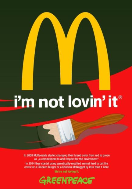 McDonalds Werbung Greenpeace