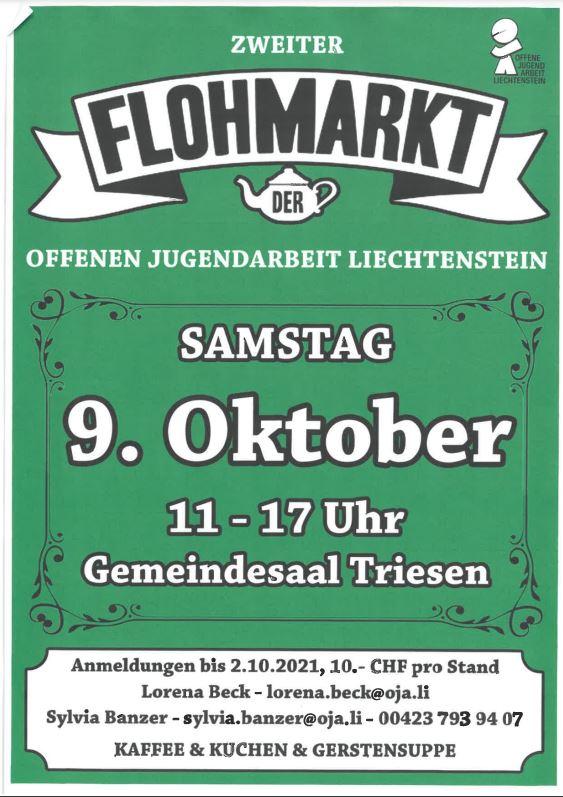 Flyer OJA Flohmarkt